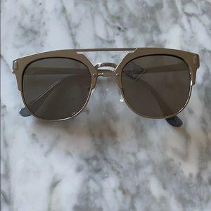 Accessories - Silver, Metal Modern Aviator Sunglasses